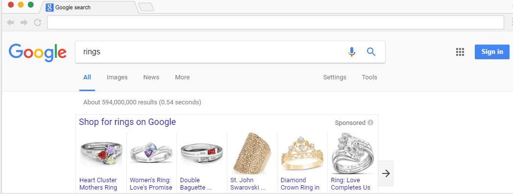 קמפיין קניות ברשת החיפוש של גוגל אדוורדס