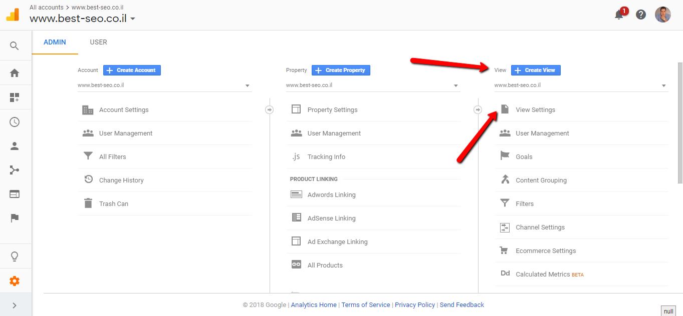 View in Google Analytics
